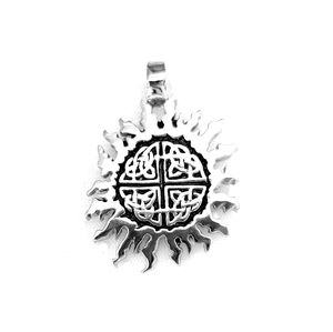 Beautiful celtic sun stainless steel pendant